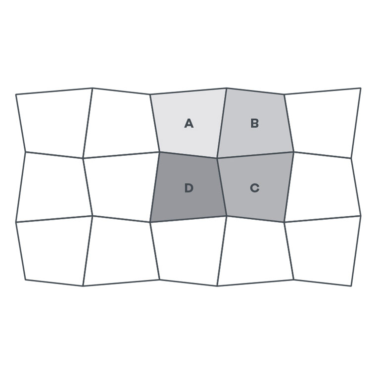 4-colour Oblique Square - EP169 wire image